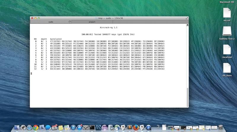Hack wifi dengan mac os